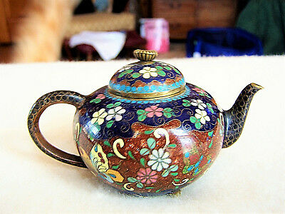 Antique Meiji Period Cloisonne Teapot