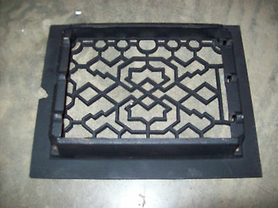 "8"" x 6"" insert heating grate geometrical design no fins  (G 131) 2"