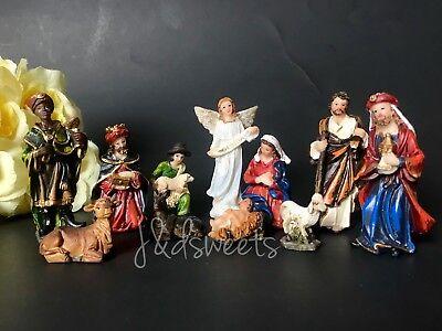Christmas Nativity Scene Set Figures Polyresin Figurines Baby Jesus 11 PIECE SET 7