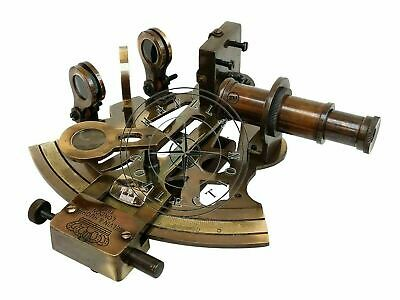 Antique Brass Working Marine Sextant Collectible Vintage Nautical Ship Astrolabe 6