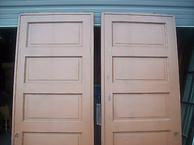 Painted raised panel pocket door set with tracking  (D JER3) 7