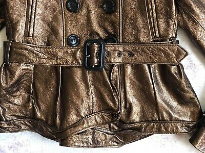BURBERRY Children Mädchen Jacke Leder Gr.122 6-7 years girls leather jacket belt 4
