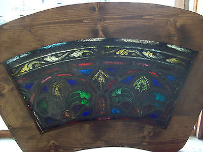 2 arched top and bottom dual fleur de lis Stained glass window (SG 1439) 5