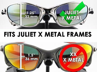 56e2c778a02 ... NEW Oakley Juliet X Metal RUBY IRIDIUM Authentic OEM Replacement Lenses  Red 7