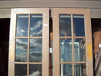 Set of  painted metal clad double doors   (MC 3)