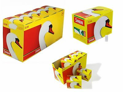 20 Packs x 165 Swan Slim line Filter Tips Slimline - Total 3300 Filter Tips 3