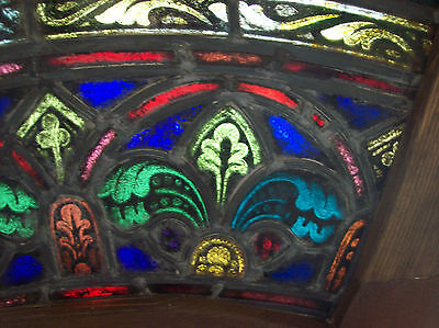2 arched top and bottom dual fleur de lis Stained glass window (SG 1439) 4