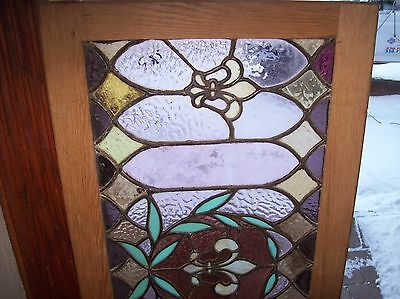 Interesting vibrant fleur de lis window stained glass  (Sg 1531) 2