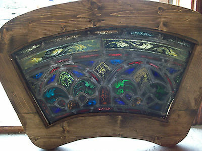 2 arched top and bottom dual fleur de lis Stained glass window (SG 1439) 6