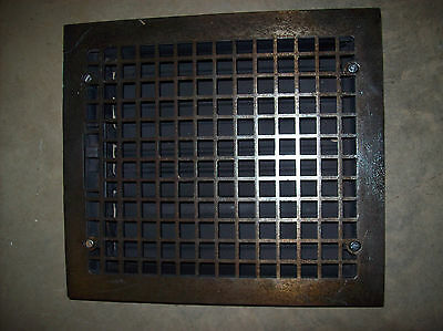 Single cast iron top steel bottom massive heating grate simple squares  (G 122) 2