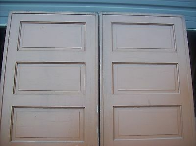 Painted raised panel pocket door set with tracking  (D JER3) 4