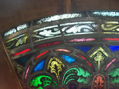 2 arched top and bottom dual fleur de lis Stained glass window (SG 1439) 8