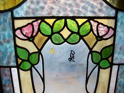 floral stained and textured glass window (SG 1446) 6