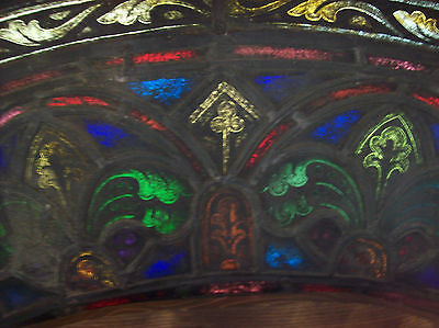 2 arched top and bottom dual fleur de lis Stained glass window (SG 1439) 7