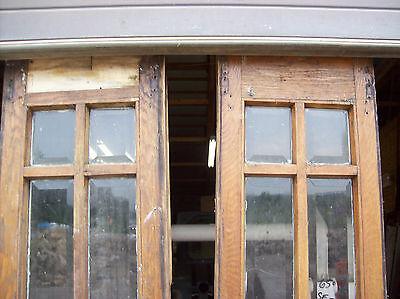 rough veneer side lights great beveled glass   (SG 1464)