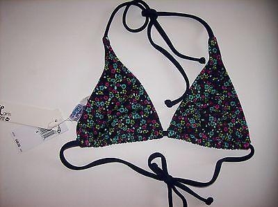 Billabong Girl/'s 5 2 Pc Bikini Swimsuit Reversible Pink Coral Wave Logo