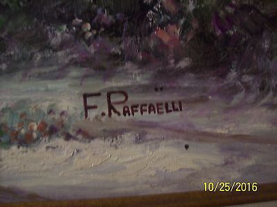 F. Raffaelli Signed Oil On Canvas Couple In Horse Drawn Wagon In New York Park 2