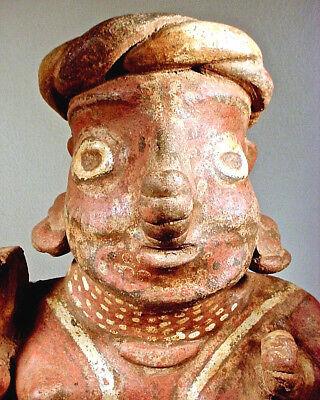 Pre-Columbian NAYARIT FEMALE WITH BOWL, EX: SOTHEBYS '78 2