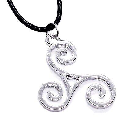 Triskele BDSM Symbol Pendant Kink Secret Symbol Cord Lace Necklace 3