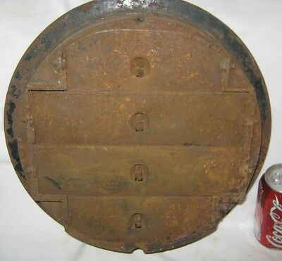 Antique Usa Architectural Home Cast Iron Heating Floor Register Vent Grate Lock 4