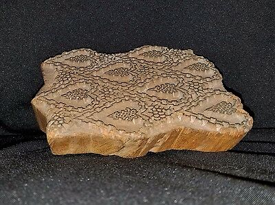 Early 1900's Hand Carved Wood Architectural Plaster Pattern Accent Mold 1 4