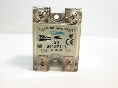 NEW Crouzet 84137111 Solid State Relay 25 Amp 90280 VAC 6999