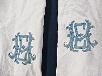 White Kid Leather Gloves Antique VTG Long Opera Length Wedding French 10 Button 2