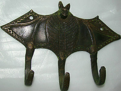 4 Attractive BAT Designed BRASS MADE COAT HOOKS (Very Beautiful) from INDIA 2
