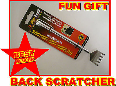 Telescopic Back Scratcher Extendable Fork Pen Tool Novelty Joke Gift Pocket Size 2