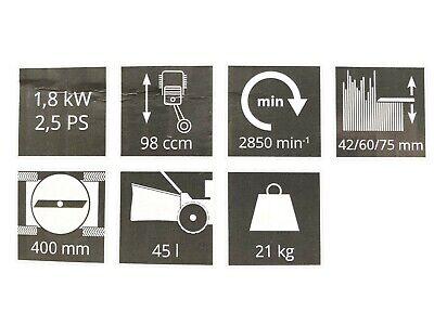 Güde Tondeuse à Gazon Eco Manuelle 2,5Ps Thermique Essence 400PD 6