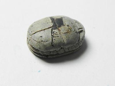 Zurqieh -Af337- Ancient Egypt , New Kingdom Stone Scarab. 1400 B.c 4