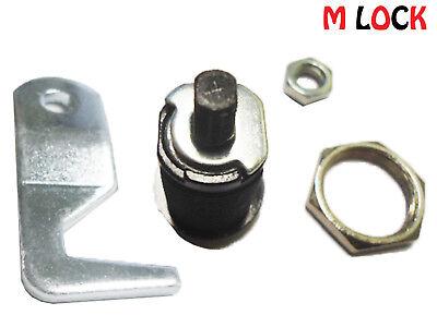 4 SIZES Homak Tool box lock BLACK tubular Cam Lock 90 degree hook replacement
