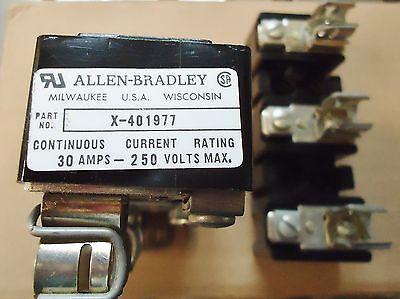 2 Allen Bradley(Ab) Part# X-401977, 30 Ams-250 Volts Max. 2