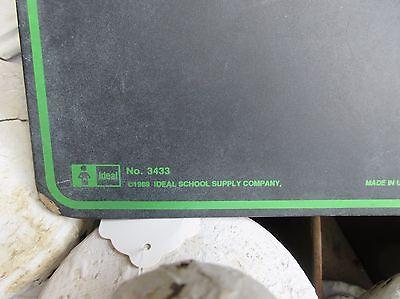 "VINTAGE school house masonite chalkboard writing tablet 11.75"" x 9 1/8"""