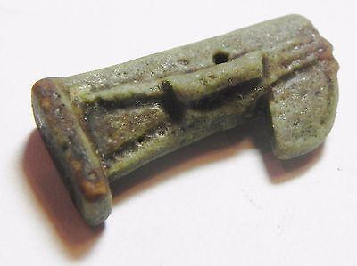 Zurqieh -Af2182- Ancient Egypt , Faience Thoth Amulet. 600 - 300 B.c 4