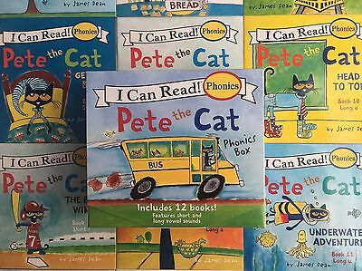 Pete the Cat Childrens Books Box Set I Can Read Phonics Learn to Read Lot 12 8