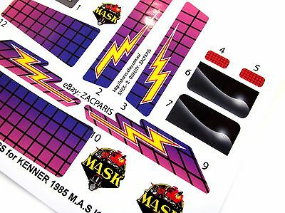 MASK stickers for KENNER M.A.S.K RAVEN Stickers Personalized with Extra/'s