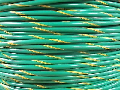 Free Shipping 16 Gauge Ground Wire Green W Yellow 50 Ft Primary Awg Stranded Copper Power