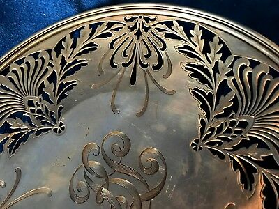 1907 Nouveau Sterling Silver Whiting Manufacturing Reticulated Platter 5