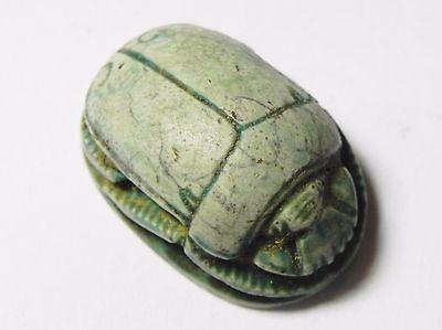 Zurqieh -Ao26- Ancient Egypt, New Kingdom. Large Stone Scarab 1400 B.c 3