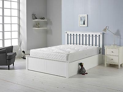 HOLZ WEISS GASDRUCKFEDER Ottomane Aufbewahrung Bett 1,4m 1,5 M Matratze  Optionen