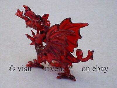 WELSH RED DRAGON FIGURINE@WALES Glass Gift@ICONIC FLAG@Baner Cymru@Y DDRAIG GOCH 2