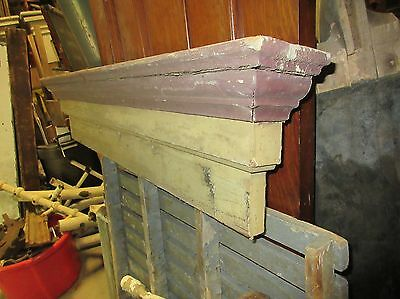 CIRCA 1880 ANTIQUE SALVAGE red & mustard victorian window pediment header 47 x10 4