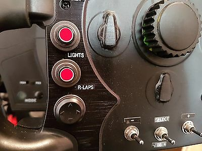 CLEAR SIM racing button box and wheel stickers for iracing, asserto Corsa  etc