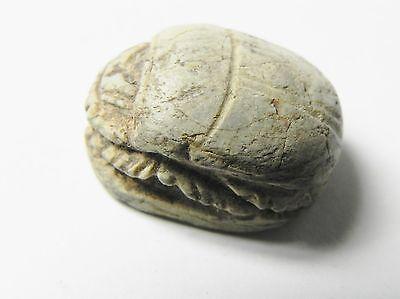 Zurqieh -Af327- Ancient Egypt , New Kingdom Stone Scarab. 1400 B.c 3