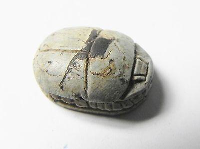 Zurqieh -Af337- Ancient Egypt , New Kingdom Stone Scarab. 1400 B.c 3
