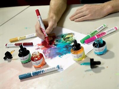 Talens Ecoline Liquid Dye-Based Watercolour Paint Ink 30ml 60 Colours Available 4