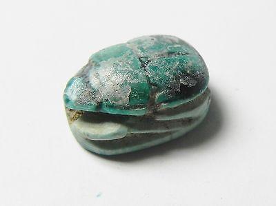 Zurqieh -Af323- Ancient Egypt , New Kingdom Stone Scarab. 1400 B.c