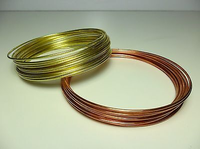 Filo Rame matassa mm 1 / 2 / 2,5 / 3 / 4 mm DIY Soft Copper wire jewels Hobby 6