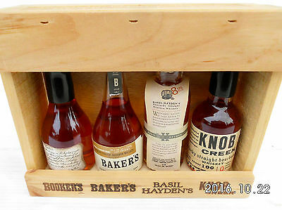Jim Beam Small Batch Miniature Set In Timber Cabinet -Features Round Knob Creek! 4